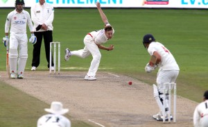 Kyle Jarvis LANCASHIRE COUNTY CRICKET CLUB Emirates Old Trafford LV= County Championship Lancashire v Glamorgan 24/08/15