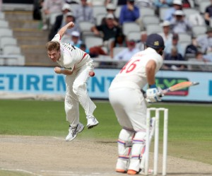 James Faulkner LANCASHIRE COUNTY CRICKET CLUB Emirates Old Trafford LV= County Championship Lancashire v Glamorgan 24/08/15