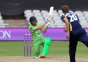 LANCASHIRE COUNTY CRICKET CLUB Emirates Old Trafford Royal London One-Day Cup Lancashire v Warwickshire 02/08/15 James Faulkner