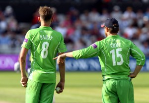 LANCASHIRE COUNTY CRICKET CLUB Emirates Old Trafford Royal London One-Day Cup Lancashire v Warwickshire 02/08/15 Tom Bailey and Steven Croft