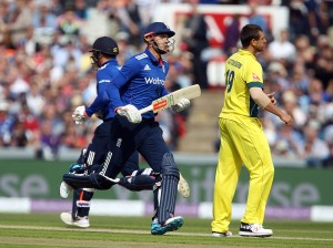 Alex Hales ENGLAND v AUSTRALIA Royal London One Day Series LANCASHIRE COUNTY CRICKET CLUB Emirates Old Trafford 08/09/15