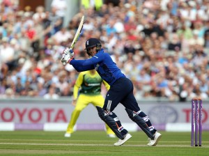 Jason Roy ENGLAND v AUSTRALIA Royal London One Day Series LANCASHIRE COUNTY CRICKET CLUB Emirates Old Trafford 08/09/15