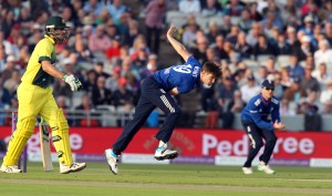 Chris Woakes ENGLAND v AUSTRALIA Royal London One Day Series LANCASHIRE COUNTY CRICKET CLUB Emirates Old Trafford 08/09/15