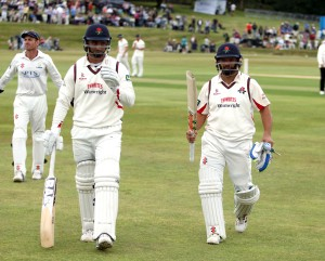 LANCASHIRE COUNTY CRICKET CLUB Colwyn Bay CC Glamorgan v Lancashire  LV= County Championship Division Two, 20/07/15 Record partnership between Lancashire duo Alviro Petersen and Aswell Prince