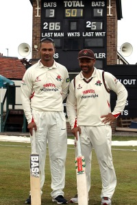 LANCASHIRE COUNTY CRICKET CLUB Colwyn Bay CC Glamorgan v Lancashire  LV= County Championship Division Two, 20/07/15 Alviro Petersen and Ashwell Prince  Record breaking partnership 286 and 261 respectivly total 501
