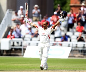 LANCASHIRE COUNTY CRICKET CLUB Emirates Old Trafford Lancashire v Leicestershire LV= County Championship Division Two, 16/06/15 Ashwell Prince reaches his fourth century