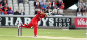 LANCASHIRE COUNTY CRICKET CLUB Emirates Old Trafford Lancashire Lightning v Worcestershire Rapids Nat West t20 Blast 18/06/15 Ashwell Prince Batting