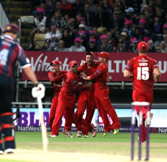 WINNERS of the  FINAL Lancs fielding Nat West t20 Blast Finals day Edgbaston LANCASHIRE COUNTY CRICKET CLUB V  Northants 29/08/15