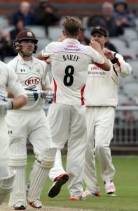 RJ Burnsb Bailey LANCASHIRE COUNTY CRICKET CLUB Emirates Old Trafford LV= County Championship Lancashire v Surrey 14/09/15