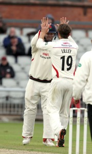 Arron Lilley LANCASHIRE COUNTY CRICKET CLUB Emirates Old Trafford LV= County Championship Lancashire v Surrey 14/09/15