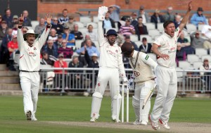 Simon Kerrigan unsucessfull appeal LANCASHIRE COUNTY CRICKET CLUB Emirates Old Trafford LV= County Championship Lancashire v Surrey 15/09/15