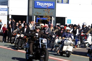 The Distinguished Gentlemens Ride Prostate Cancer UK Youles Triumph Manchester